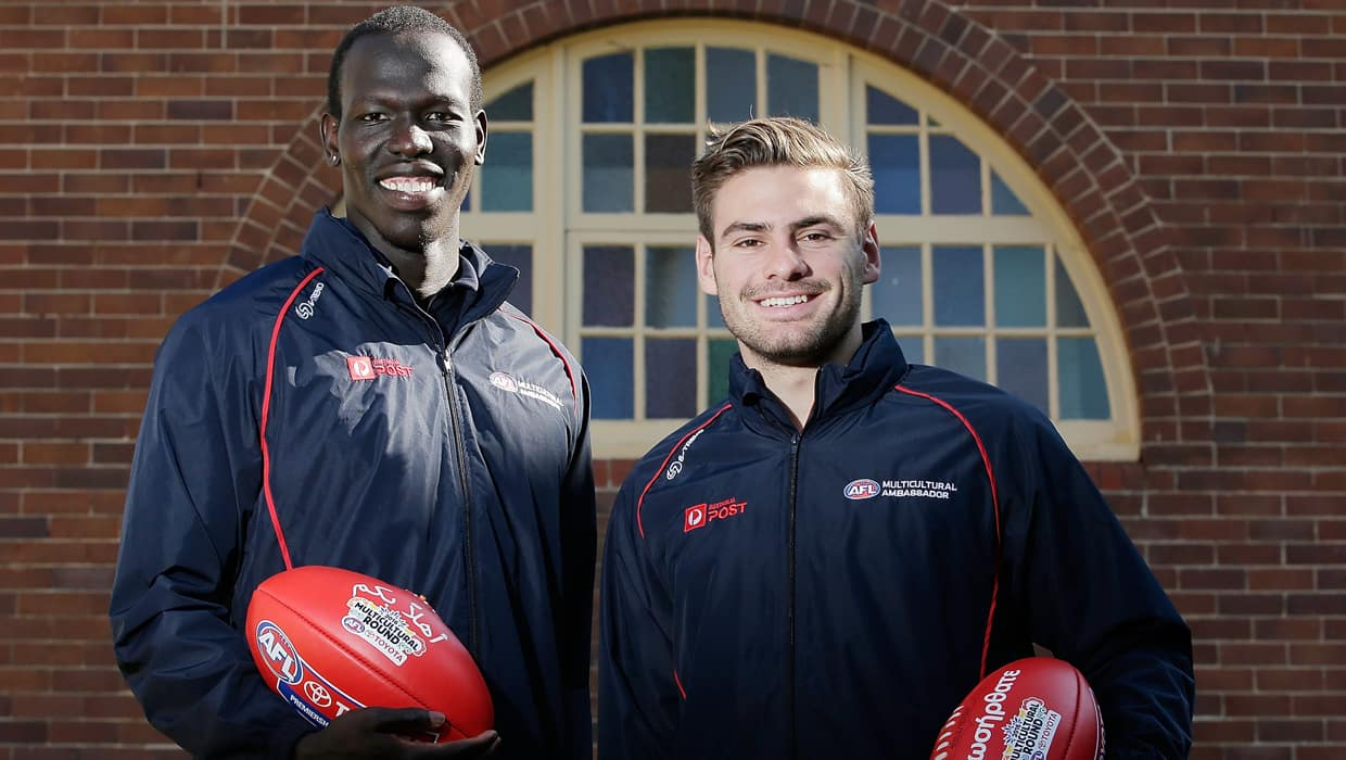 Stephen Coniglio will help launch the 2017 Multicultural Round after successfully launching the round alongside Sydney's Aliir Aliir in 2016.