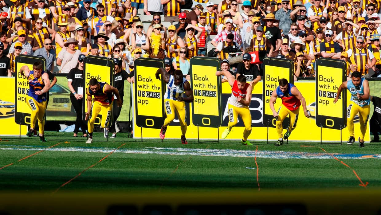 You could be running alongside the AFL's fastest on Grand Final day thanks to 13CABS.