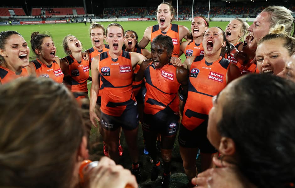 The GIANTS finished the season on a high with a 31-point win over GEELONG at UNSW Canberra Oval. - AFLW,GWS Giants,Geelong Cats,UNSW Canberra Oval,Courtney Gum,Christina Bernardi