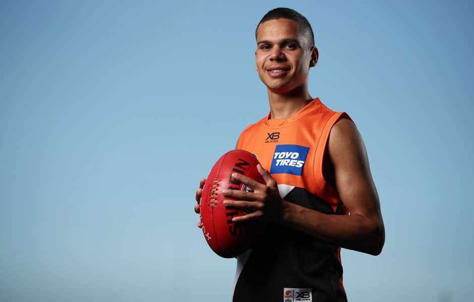 Ian 'Bobby' Hill comes from a famous footballing family but he's looking to create his own history at the GIANTS. - GWS Giants,Ian Hill,Bradley Hill,Stephen Hill,Cyril Rioli,Josh Hill,Leon Davis