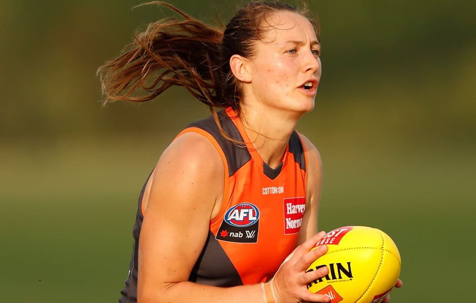 Get to know first-year GIANT Lisa Whiteley. - AFLW,GWS Giants,Lisa Whiteley