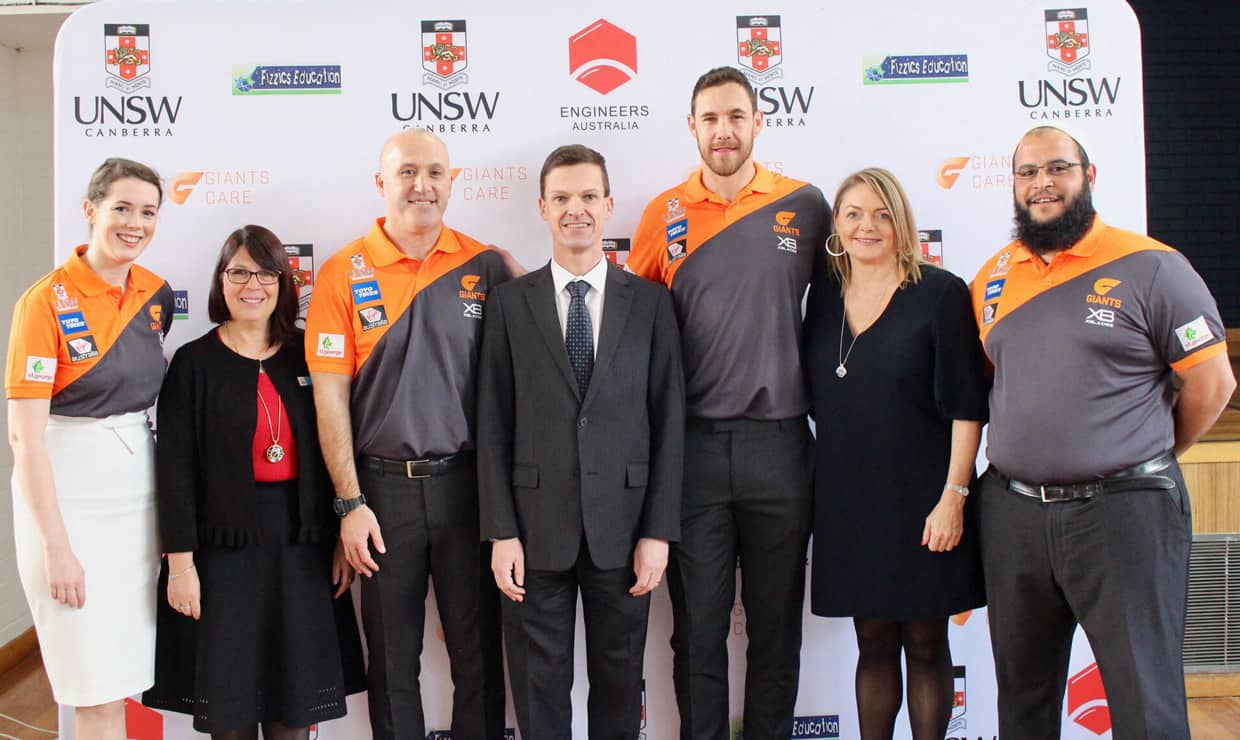 The GIANTS have launched GIANTS Care in Canberra. - GWS Giants,AFL