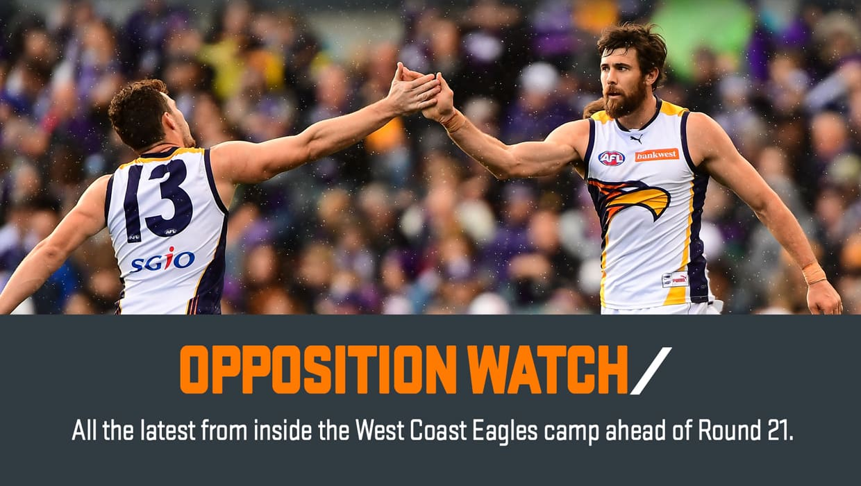 The GIANTS will be looking to stop Coleman Medal front runner Josh Kennedy when they meet on Saturday afternoon.