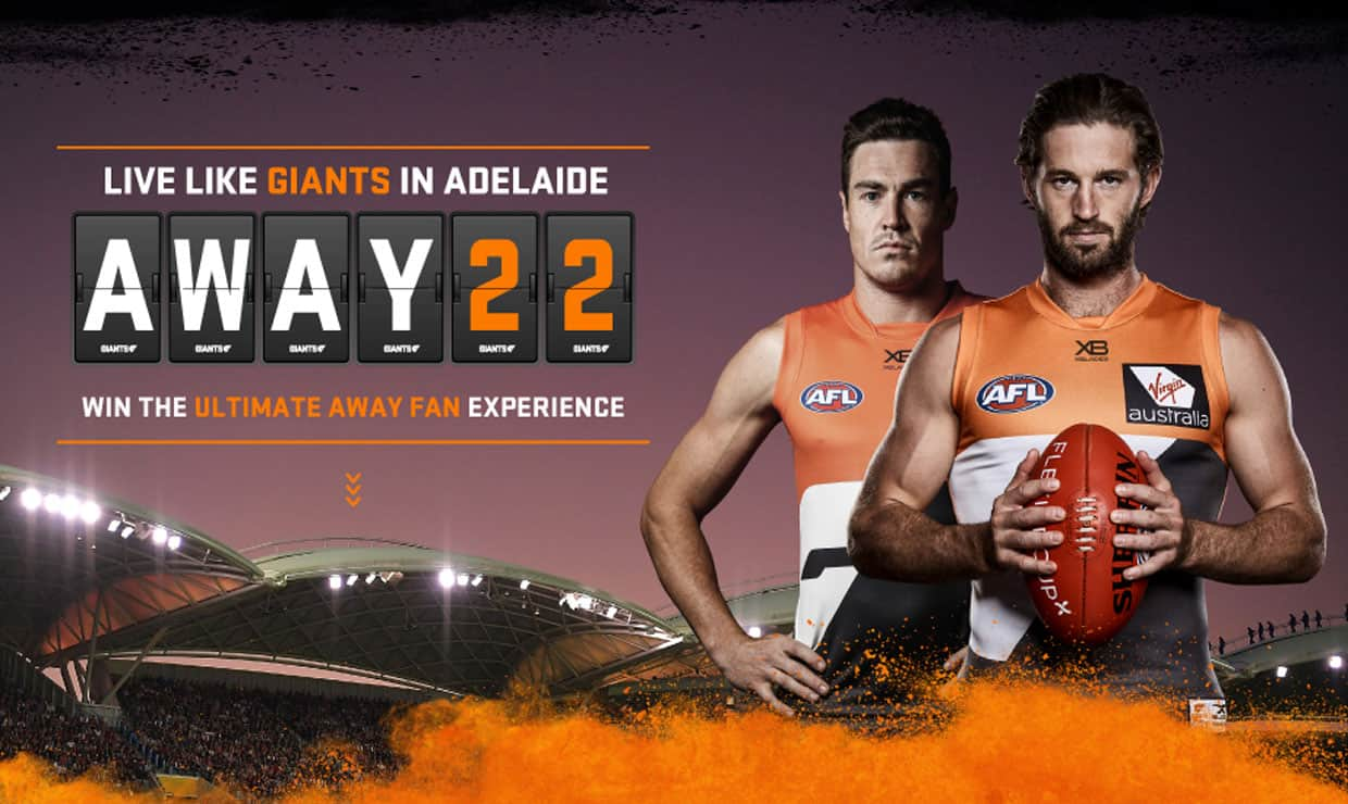 Win an incredible trip to the GIANTS' round 11 clash with Adelaide in Adelaide thanks to Virgin Australia. - GWS Giants,AFL,Adelaide Oval,Adelaide Crows