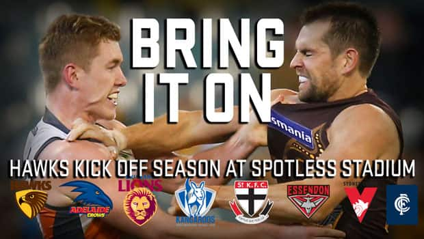 The GIANTS will welcome the Hawks to Spotless Stadium for the first time in 2015.