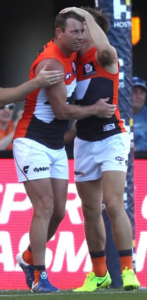 Steve Johnson returns to the GIANTS line up to take on the Swans.