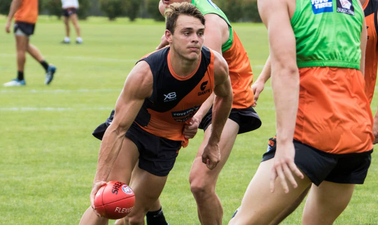 Zac Langdon in training with the GIANTS on Monday. - Zac Langdon,GWS Giants,AFL,Draft,WAFL,Claremont