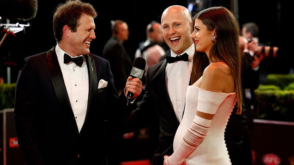 Gary Ablett and his wife Jordan at last year's Brownlow Medal presentation - AFL,Gary Ablett,Geelong Cats,Gold Coast Suns