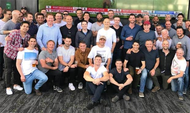 The big group that attended the 2007 reunion - Geelong Cats