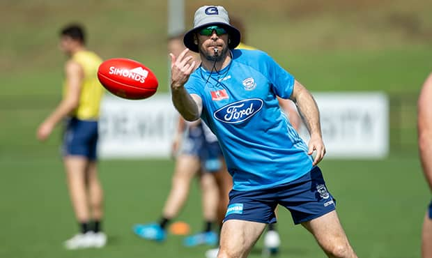 Matthew Scarlett calling the shots at training - Geelong Cats,Matthew Scarlett