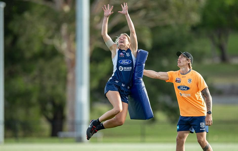 Nothing holding her back - Phoebe McWilliams has been named to return this week - Geelong Cats