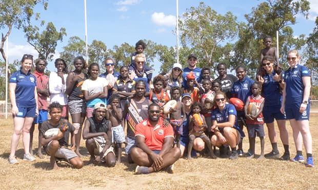 The Geelong VFLW team travelled to East Arnhem Land last weekend - Geelong Cats