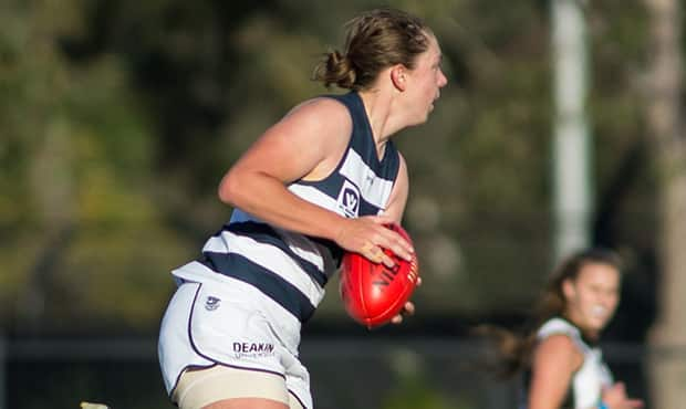 Courtney Stevens will play her first game since breaking her finger in round two - Geelong Cats