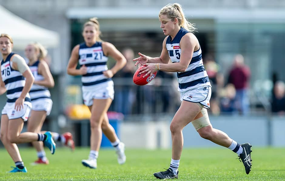 Jordan Ivey continued her excellent season with another strong performance on Sunday. - Geelong Cats