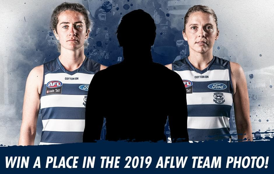 A spot in Geelong's historic first AFLW team photo is up for grabs.  - AFLW,Geelong Cats