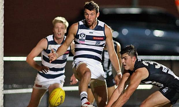 Padraig Lucey booted four goals for the Cats
