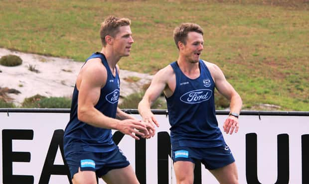 Scott Selwood and Lincoln McCarthy were two welcome faces on the track - Geelong Cats