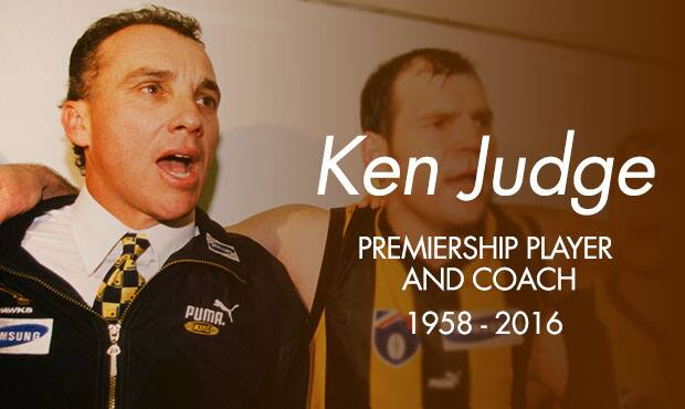 Premiership player and former coach Ken Judge passed away today at the age of 58.
