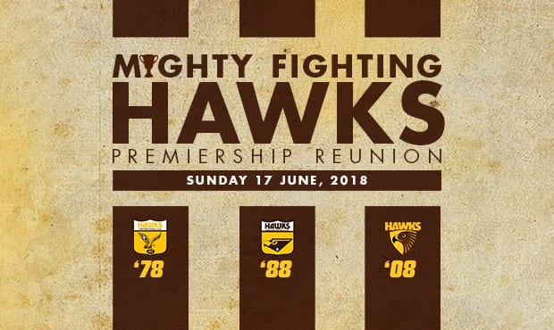 Join some of Hawthorn's legendary figures in celebrating the anniversaries of the '78, '88 and '08 Hawthorn premierships.