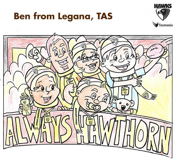 Winner announced for Hawka\'s major colouring-in comp - hawthornfc.com.au