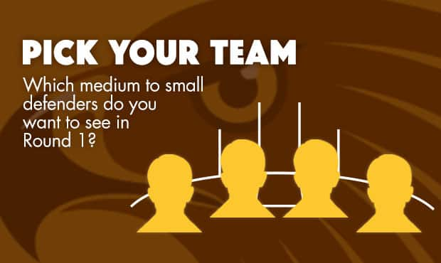 Vote for the four medium/small defenders you want to see in the team for Round 1!