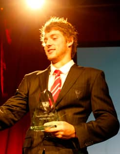 Alex Johnson claimed the 2012 Sydney Swans Rising Star award last Friday night