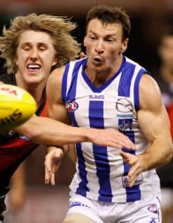North veteran Brent Harvey was inspirational against the Bombers on Sunday