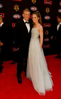 Nathan and Jess at the 2014 Brownlow Medal