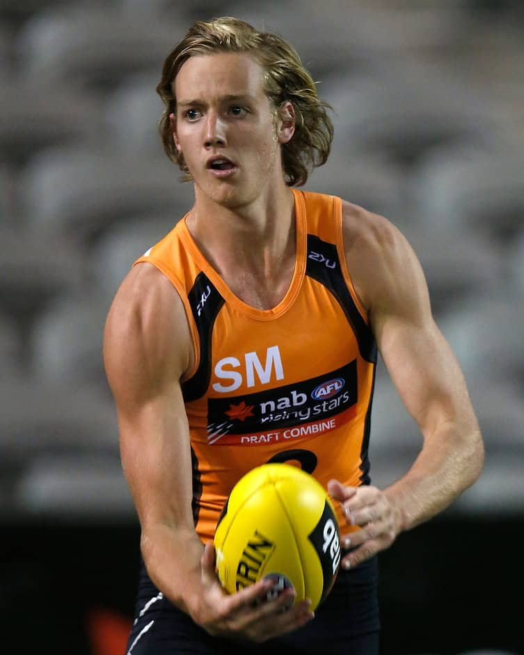 MELBOURNE, AUSTRALIA - OCTOBER 9: Darcy Parish in action during day 1 of the 2015 NAB AFL Draft Combine at Etihad Stadium, Melbourne on October 09, 2015. (Photo: Michael Willson/AFL Media)