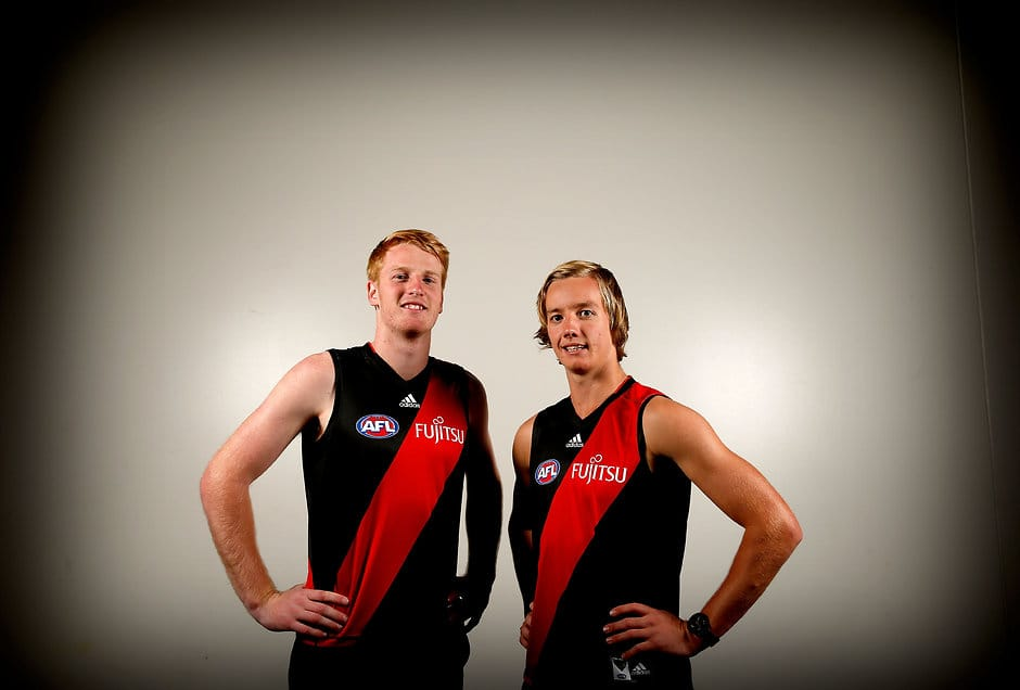Young Bombers Darcy Parish and Aaron Francis could play plenty of senior footy this year - ${keywords}