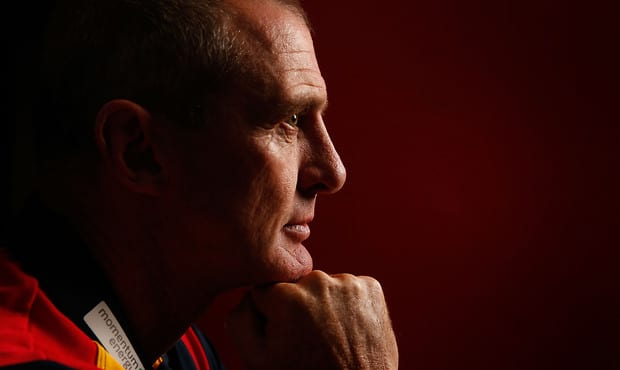Phil Walsh, Senior Coach of the Crows poses for a photograph during an AFL.com.au portrait session at AFL House, Melbourne on January 15, 2015. (Photo: Michael Willson/AFL Media)