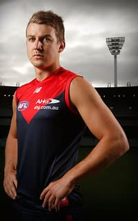 MELBOURNE, AUSTRALIA - FEBRUARY 4: Jack Trengove poses for a photograph during the Melbourne Demons official team photo day at the MCG in Melbourne on February 4, 2016. (Photo by Michael Willson/AFL Media)