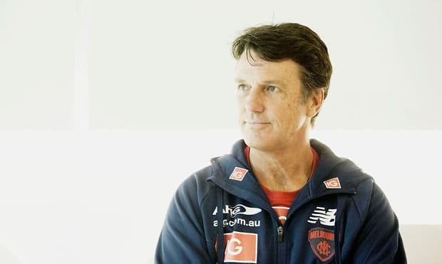 MELBOURNE, AUSTRALIA - FEBRUARY 17: Paul Roos, Senior Coach of the Demons poses for a photo during the a portrait session at AFL House in Melbourne, Australia on February 17, 2016. (Photo by Sean Garnsworthy/AFL Media)