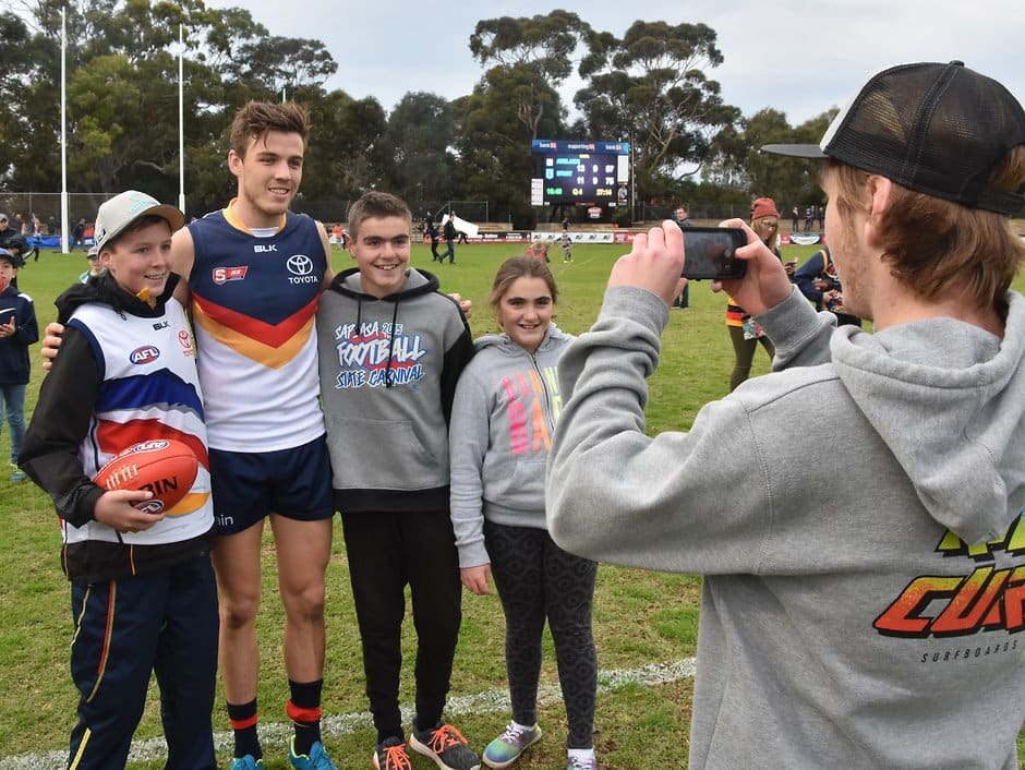 Paul Seedsman poses for a photo after Adelaide's Round 15 SANFL clash with Sturt at Thebarton Oval   (Photo: Adelaide Crows FC)