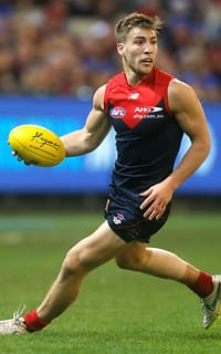 MELBOURNE, AUSTRALIA - JUNE 08: Jack Viney of the Demons in action during the 2015 AFL round ten match between the Melbourne Demons and the Collingwood Magpies at the Melbourne Cricket Ground Melbourne on June 8, 2015. (Photo by Adam Trafford/AFL Media)