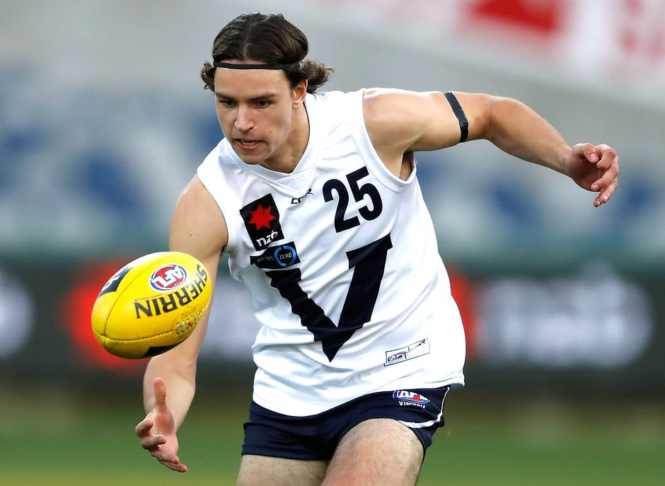 GEELONG, AUSTRALIA - JUNE 29:  Luke Davies-Uniacke of Vic Country in action during the Under 18 Championship match between Vic Country and the Allies at Simonds Stadium on June 29, 2016 in Geelong, Australia. (Photo by Adam Trafford/AFL Media)