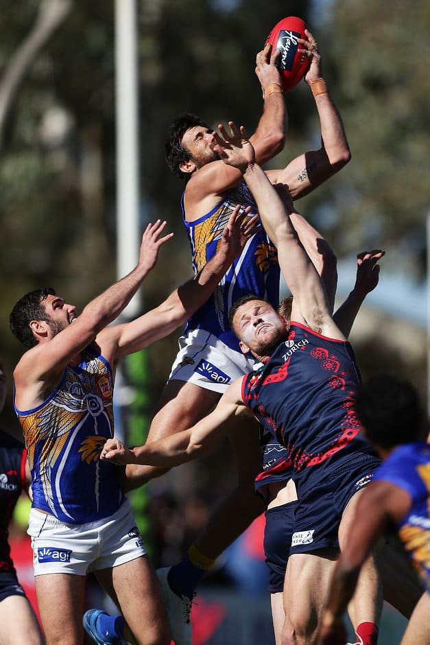 Eagles survive Alice Springs scare against Dees - AFL com au