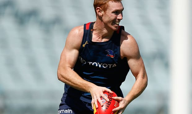 Tom Lynch in action during pre-season training