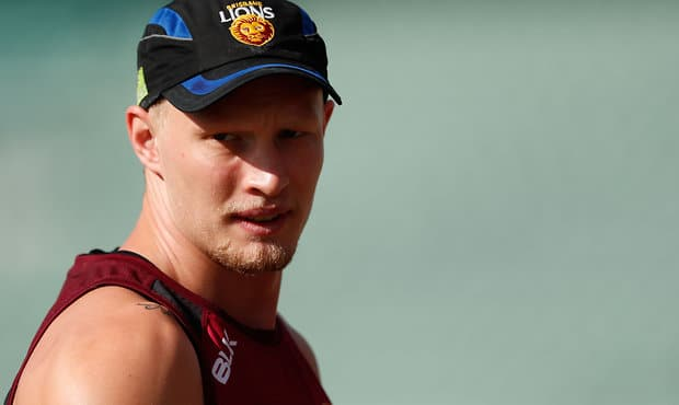 Jack Frost at training with the Brisbane Lions.