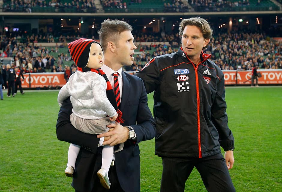 Mark McVeigh with former coach James Hird in 2012 - ${keywords}
