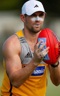 The entire Hawks playing group has travelled to Queensland for a training camp, including skipper Luke Hodge.