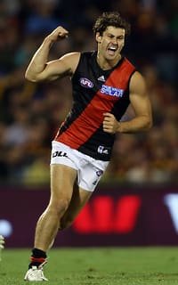 Ben Howlett played a key role in Essendon's come-from-behind win with four goals and 25 possessions