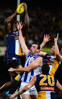 Nic Naitanui came through at the death for the Eagles