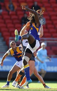 Nic Naitanui was just one of the Eagles many solid performers against GWS
