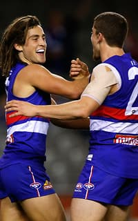 Luke Dahlhaus and Tom Liberatore were influential in the Bulldogs win
