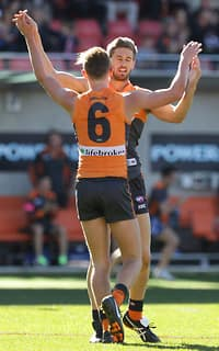 AFL 2013 Rd 19 - GWS Giants v Melbourne