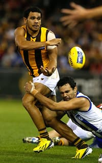 Cyril Rioli's third quarter was crucial in Hawthorn's win on Saturday afternoon