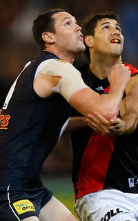 Robert Warnock and Patrick Ryder clash in the ruck on Saturday night
