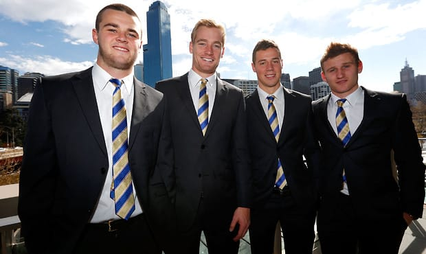 Brad Crouch with fellow nominees Sam Kerridge, Luke Brown and Rory Laird