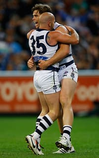 Goals to Paul Chapman and Tom Hawkins sparked Geelong's third-quarter comeback on Friday night